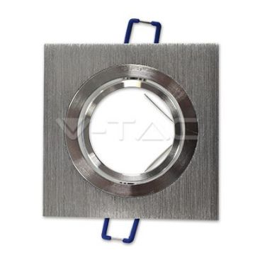 VT-782SQ1*GU10 Fitting Square Aluminium Brush