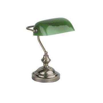 BANKER LAMPE DE TABLE E27 60W OR VIEILLI
