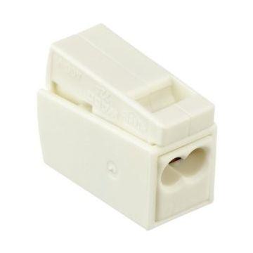 Borne pour luminaires 2.5 mm² / 2 rigides - 1 souple / 105C° / Blanc