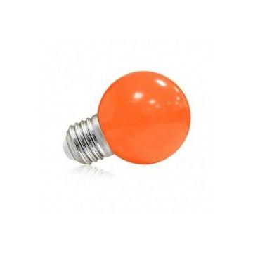 LED 1 WATT BULB E27 ORANGE BLISTER