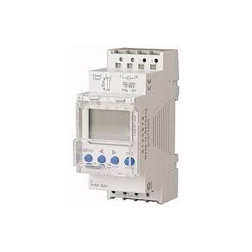 Interrupteur horaire digital modulaire 1 canal, 7 jours, ligne de texte, bornier enfichable, 2 TLE