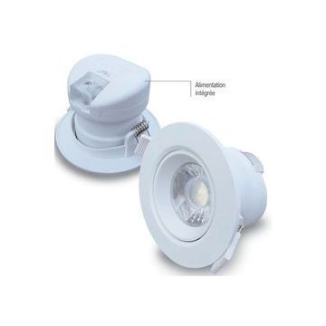 Downlight 7W cutout 70mm blanc chaud