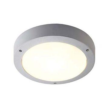 DRAGAN Détect. applique/plafonnier, gris argent, E27 max. 2x 24W, IP44