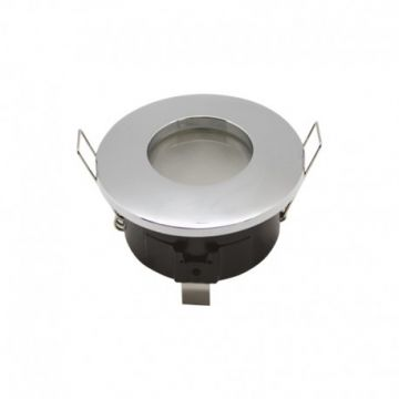 Support de spot BBC ROND CHROME ETANCHE BBC IP 65 82mm