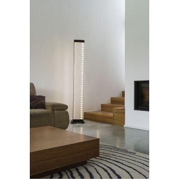 I-LINE TOUCH lampadaire, noir LED, 3000K, diffuseur latéral acrylique