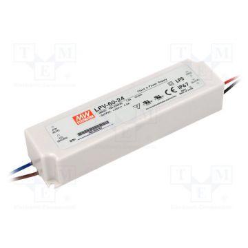 Alimentation LED Meanwell 60W 24v IP65