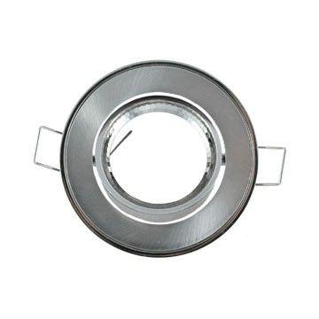 Support Plafond Orientable Vision-EL argent rond diamètre 86mm
