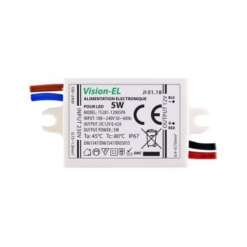 ALIM LED VISION-EL 12V DC 350mA LED 5W IP67