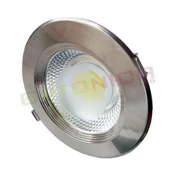 CB3174 30W LED COB DOWNLIGHT ROUND, WARM WHITE LIGHT - INOX