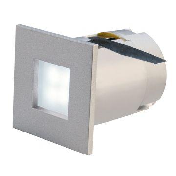 MINI FRAME LED encastré, carré, gris argent, 0,23W, LED 6500K
