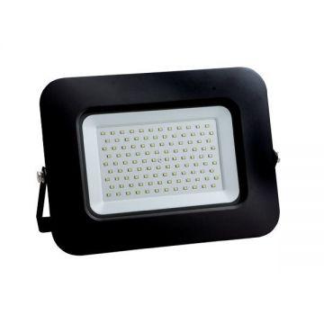 LED SMD FLOODLIGHT BLACK 100W AC170-265V 150° IP65 4500K 70CM CABLE