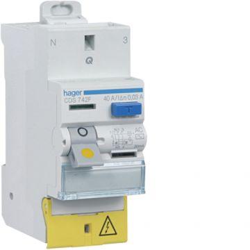 HAGER Interrupteur différentiel SanVis 40A 30mA type AC auto 230V