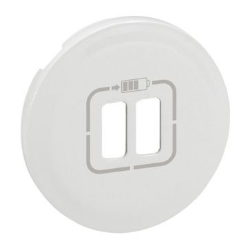 ENJO. DBLE CHARGEUR USB BLANC