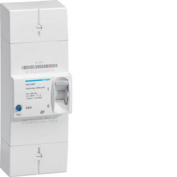 Disjoncteur de branchement différentiel 2P 60A 500mA instantané