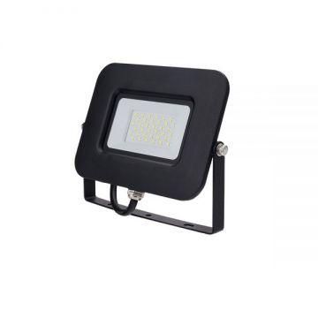 LED SMD FLOODLIGHT BLACK 30W AC170-265V 150° IP65 4500K 70CM CABLE