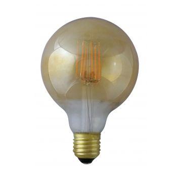 E27 8W grand globe à filament 2700K finition golden