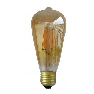 E27 8W ST64 à filament 4000K finition golden