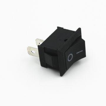 Interrupteur Bascule Switch KCD1-101 250V6A ON-OFF Plastique Noir