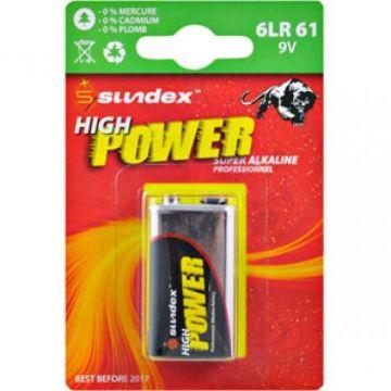 PILES 6LR61 9V SUNDEX X 1 SUPER ALCALINES 6-36