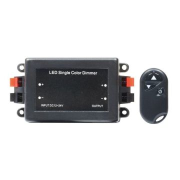 DEC/DIM-RF VARIATEUR LED ELECTRONIQUE DC 12~24V - 96W~192W + TELECOMMANDE RADIO (guirlande blanche et blanc chaud) - Lumihome
