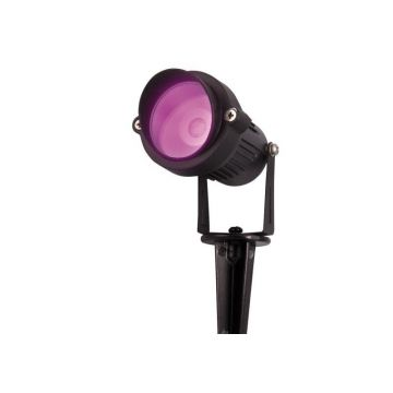 RGB/GL7 SPOT PIQUET EXTERIEUR 1 LED COB 7W RGB + TELECOMMANDE RF / IP65 / piquet de sol inclus. (emballage boîte) - Lumihome