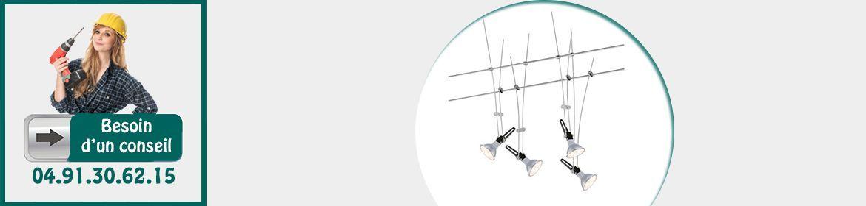 Luminaires sur cables tendus